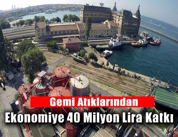 Gemi Atıklarından Ekonomiye 40 Milyon Lira Katkı