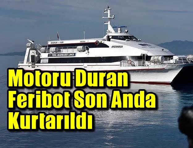 Motoru Duran Feribot Son Anda Kurtarıldı