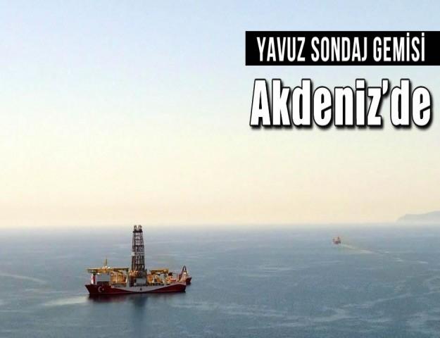 Yavuz sondaj gemisi Akdeniz'de