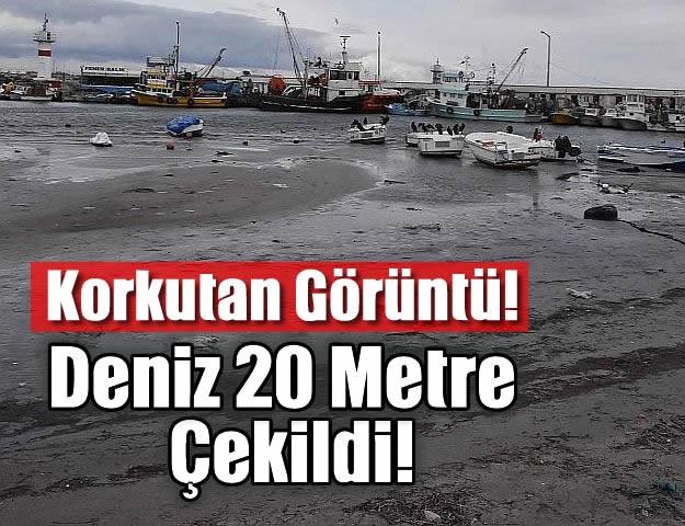 Korkutan Görüntü! Deniz 20 Metre Çekildi!