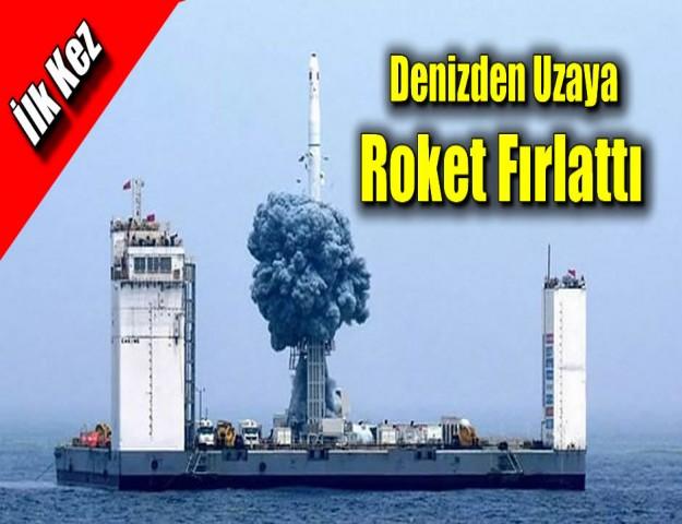 İlk Kez Denizden Uzaya Roket Fırlattı