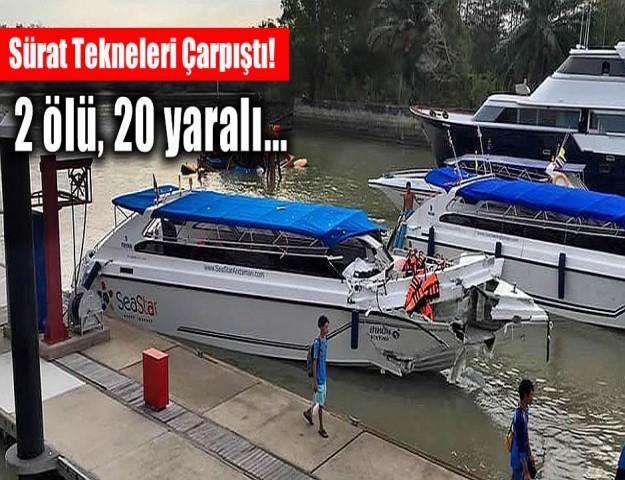 Sürat Tekneleri Çarpıştı! 2 ölü, 20 yaralı...