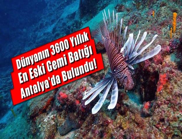 Dünyanın 3600 Yıllık En Eski Gemi Batığı Antalya'da Bulundu!