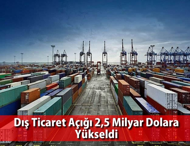 Dış Ticaret Açığı 2,5 Milyar Dolara Yükseldi