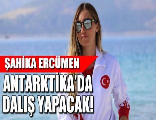 ŞAHİKA ERCÜMEN ANTARKTİKA'DA DALIŞ YAPACAK!