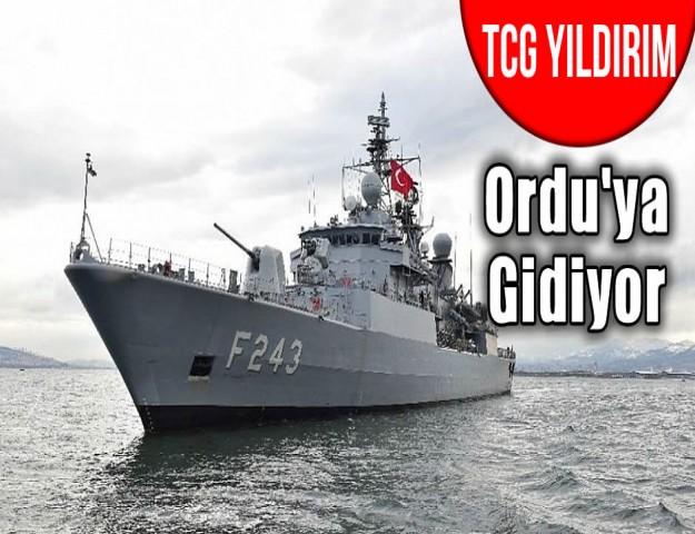 TCG Yıldırım Ordu'ya gİdiyor