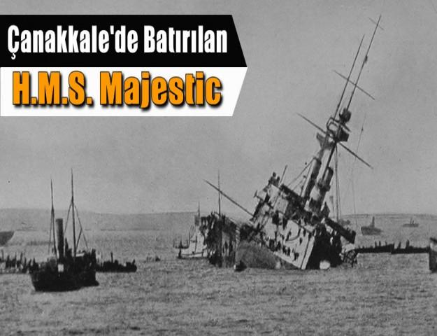 Çanakkale'de Batırılan  H.M.S. Majestic