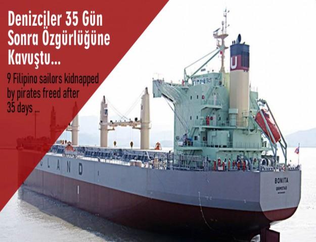 Denizciler 35 Gün Sonra Özgürlüğüne Kavuştu