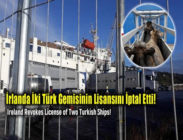 İrlanda İki Türk Gemisinin Lisansını İptal Etti!