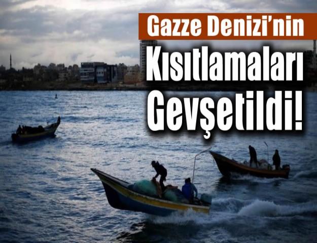 Gazze Denizi'nin Kısıtlamaları Gevşetildi!
