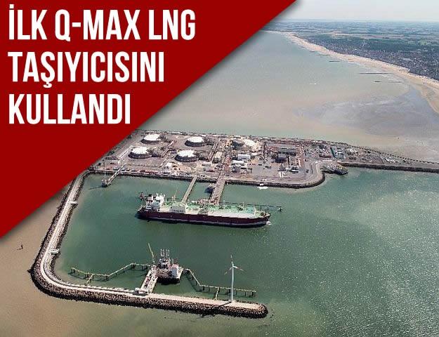 İlk Q-Max LNG Taşıyıcısını Kullandı