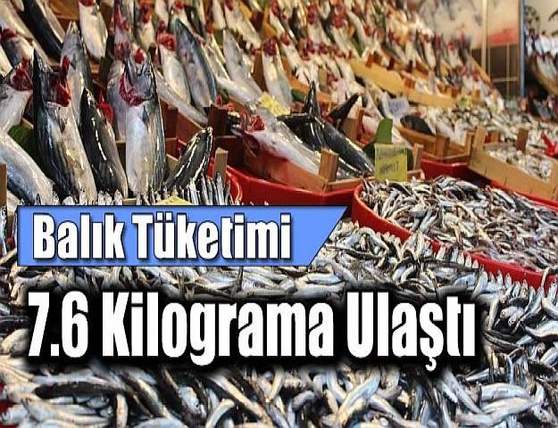 Balık Tüketimi 7.6 Kilograma Ulaştı