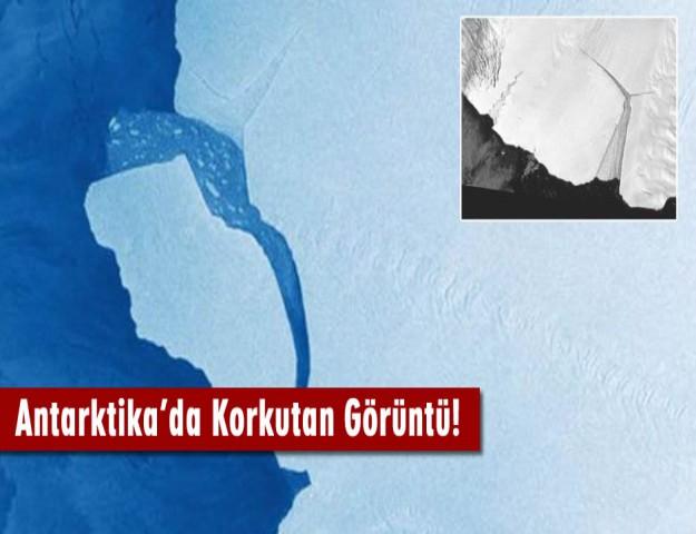 Antarktika'da Korkutan Görüntü!