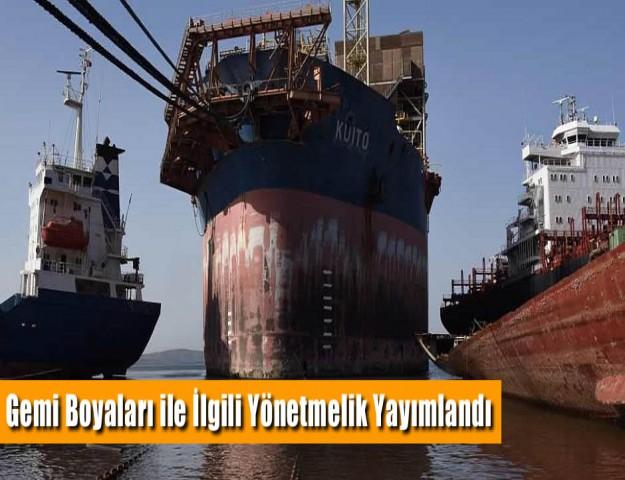 Gemi Boyaları ile İlgili Yönetmelik Yayımlandı