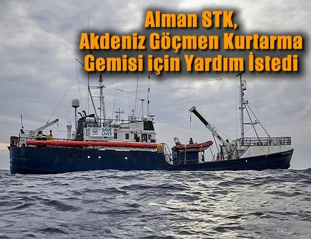 Alman STK, Akdeniz Göçmen Kurtarma Gemisi için Yardım İstedi