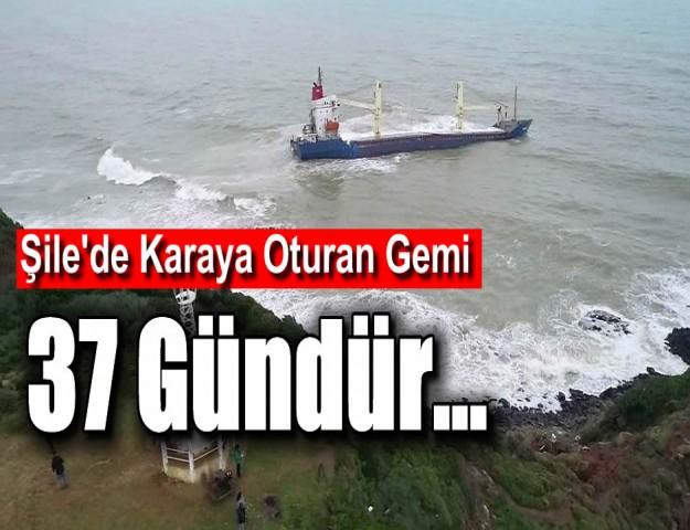 Şile'de Karaya Oturan Gemi 37 Gündür...