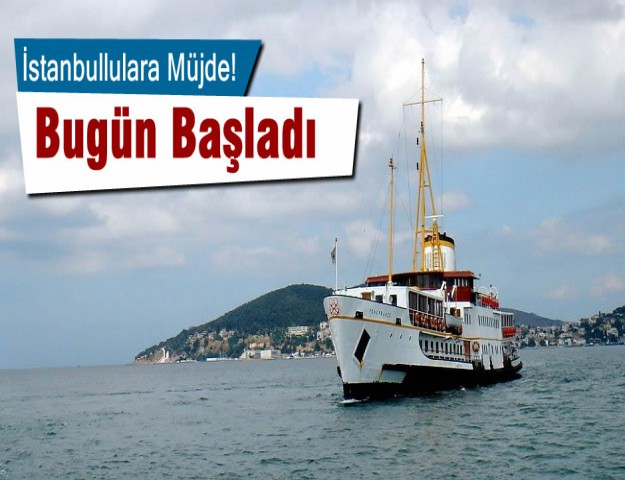 İstanbullulara Müjde! Bugün Başladı