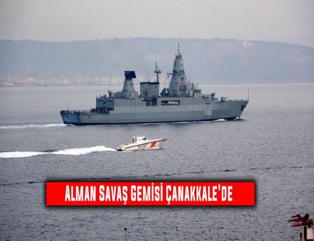 Alman Savaş Gemisi Çanakkale'de