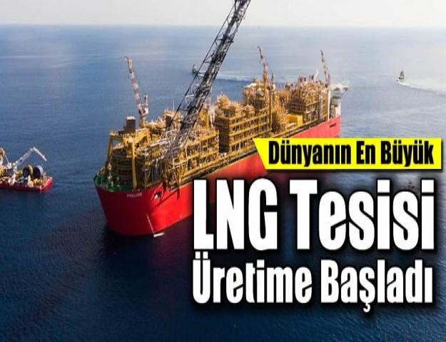 Dünyanın En Büyük LNG Tesisi Üretime Başladı