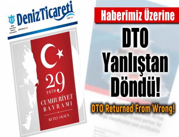 Haberimiz üzerine DTO Yanlıştan Döndü!