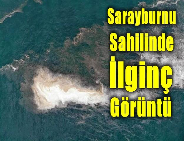 Sarayburnu Sahilinde Dikkat Çeken Görüntü