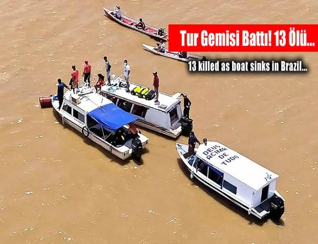 Tur Gemisi Battı! 13 Ölü...