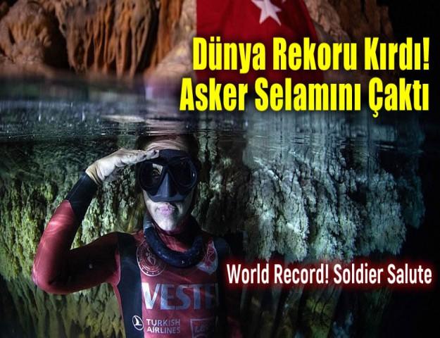 Dünya Rekoru Kırdı! Asker Selamını Çaktı