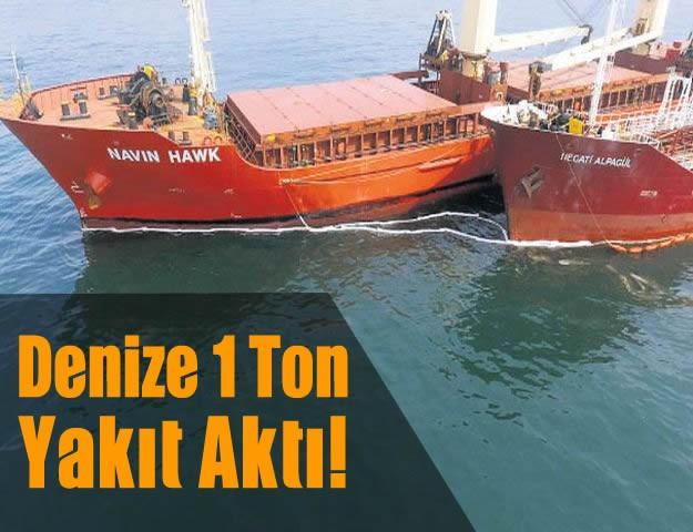 Denize 1 Ton Yakıt Aktı!