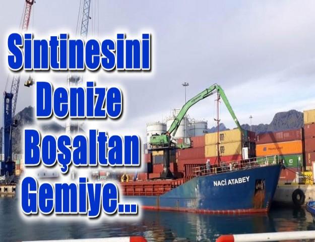 Sintinesini Denize Boşaltan Gemiye...