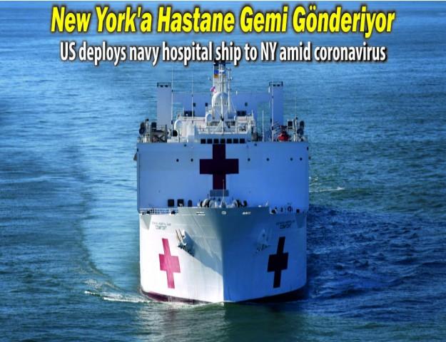 New York'a Hastane Gemi Gönderiyor