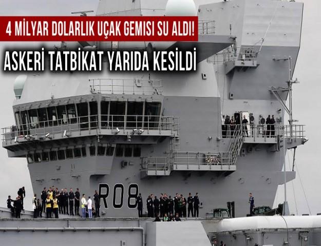 4 Milyar Dolarlık Uçak Gemisi Su Aldı! Askeri Tatbikat Yarıda Kesildi