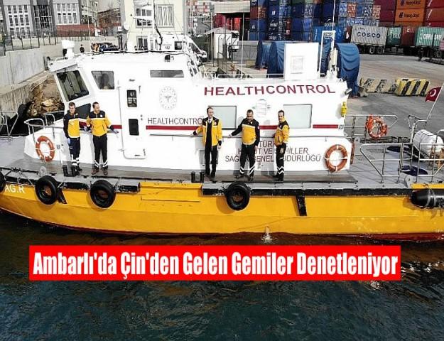 Ambarlı'da Çin'den Gelen Gemiler Denetleniyor