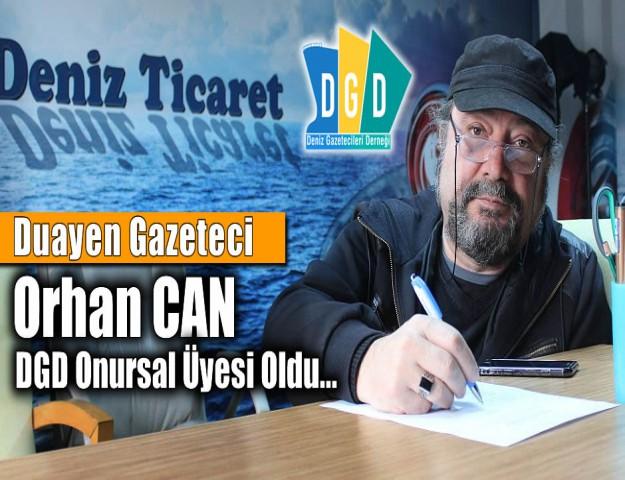 Duayen Gazeteci Orhan CAN  DGD Onursal Üyesi Oldu...